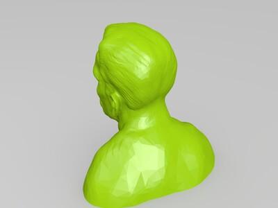 施瓦辛格 头像-3d打印模型