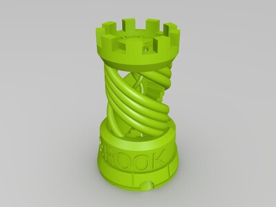 旋转城堡-3d打印模型