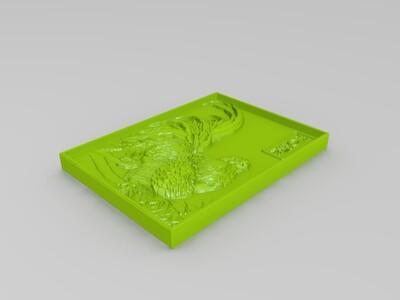 金猴留恋丰收年,彩凤欢啼盛世春-3d打印模型