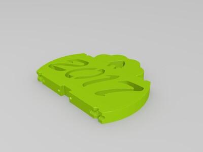 2017鸡年折叠手机支架-3d打印模型