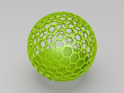 富勒烯花盆-3d打印模型