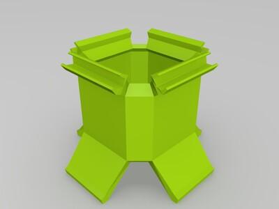 无限拼接拇指花盆(打印加裙边)-3d打印模型