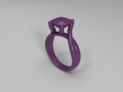 粉钻戒指-3d打印模型