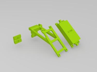 2.4G 遥控 功率放大器 支架-3d打印模型