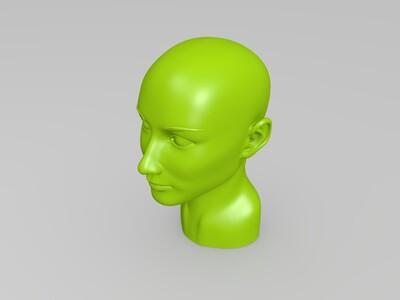 奥黛丽赫本头部-3d打印模型