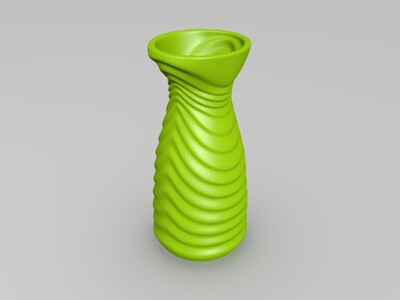 卡通花瓶-3d打印模型
