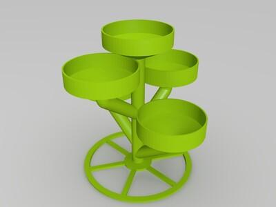 战国灯台花盆-3d打印模型