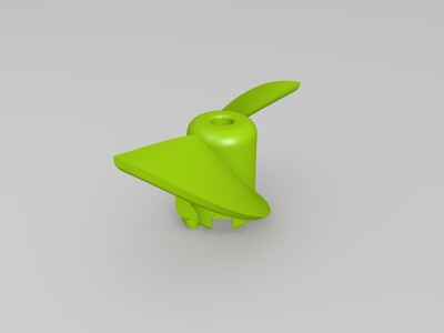 高效半侵螺旋桨-3d打印模型