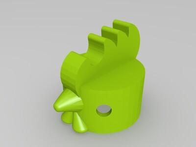 橡木公鸡-3d打印模型