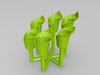 马蹄兰花盆-3d打印模型
