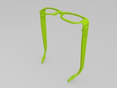 时尚眼镜框架-3d打印模型