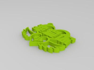 爱心吊坠-3d打印模型