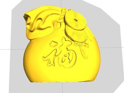 钱袋福袋-3d打印模型