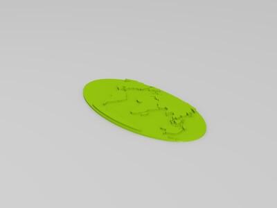 可打印的世界地图模型-3d打印模型