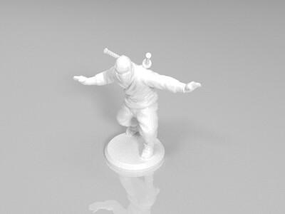 日本双刀忍者-3d打印模型