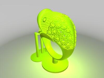 鱼戒指-3d打印模型