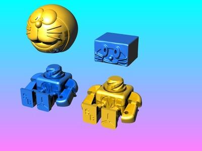 组合式哆啦a梦机器人-3d打印模型