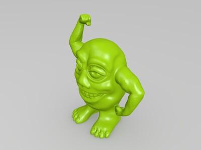 鸡蛋人形-3d打印模型