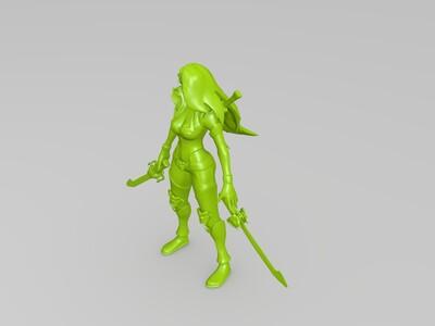 英雄联盟,卡特-3d打印模型
