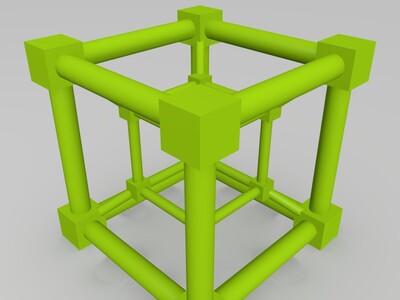 超立方体(的tesseract ) 收藏 0-3d打印模型