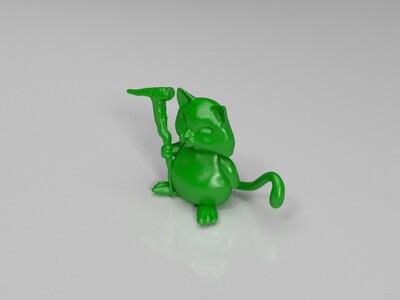 猫仙人-3d打印模型