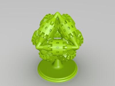 齿轮塔-3d打印模型
