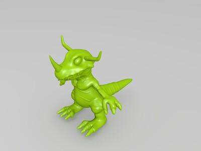 数码宝贝 暴龙兽-3d打印模型