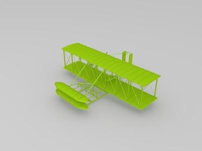 莱特兄弟 初代飞机 飞行者-3d打印模型