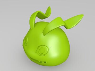 数码宝贝 滚球兽-3d打印模型