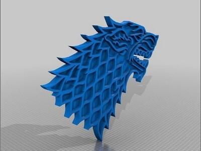 灰色冰原狼-3d打印模型
