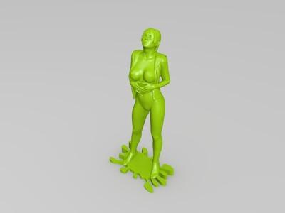 找衣服的美女-3d打印模型
