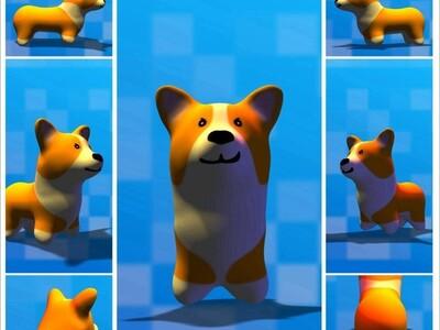 柯基犬-3d打印模型