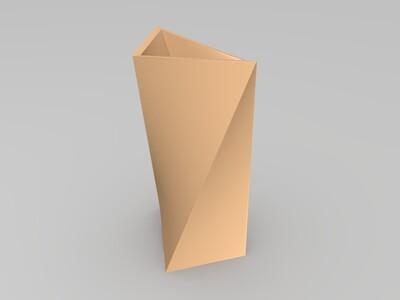 扭曲花瓶-3d打印模型