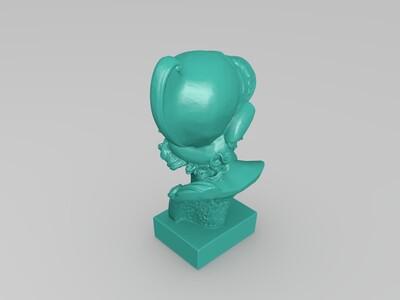 石膏人头像-3d打印模型