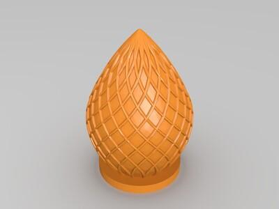竹棱灯饰品-3d打印模型