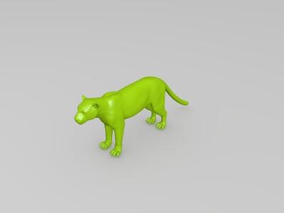 金钱豹-3d打印模型