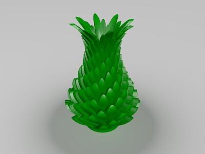 菠萝花瓶-3d打印模型