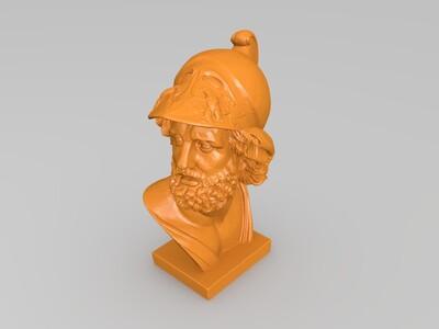 将 雕塑 胸像-3d打印模型