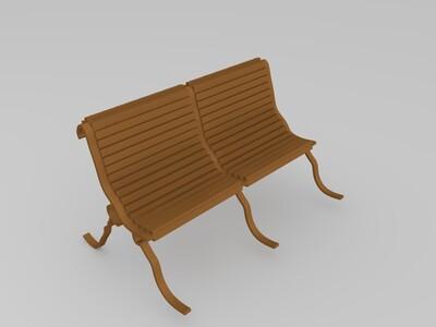 公园椅-3d打印模型