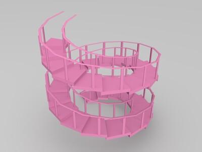 楼梯-3d打印模型