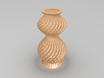 旋转螺纹花瓶-3d打印模型