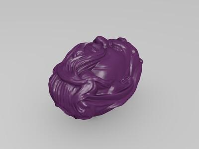关公关羽头像雕刻-3d打印模型