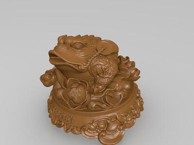 开业庆典礼品金蟾和谐生财-3d打印模型