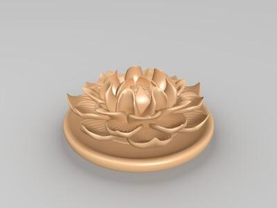 莲花艺术造型-3d打印模型