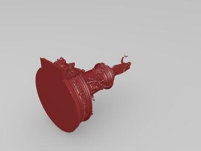 巴黎共和广场雕塑-3d打印模型