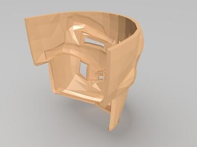 厄运面罩头盔面具-3d打印模型