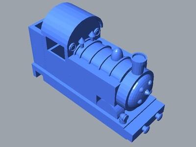 火车头-3d打印模型