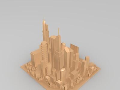 城市综合体-3d打印模型