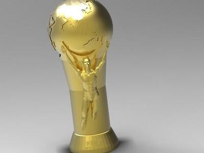 国际足联世界杯奖杯-3d打印模型