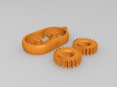 齿轮钥匙扣-3d打印模型